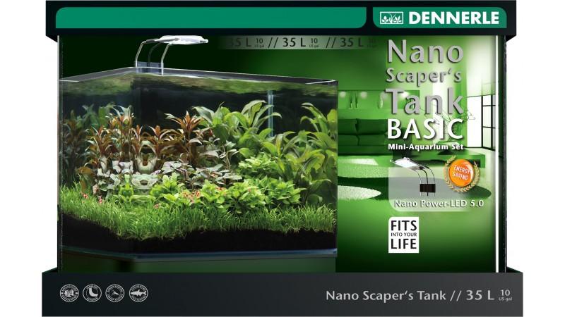 Сладководен аквариум Nano Scapers Tank Basic 35L Led