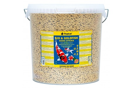 Храна за кои и златни рибки под формата на пръчици Tropical  Koi&Goldfish Basic Sticks 5 л