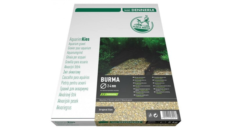 Dennerle Natural gravel Plantahunter Burma 2-4мм / 12-15мм 5кг