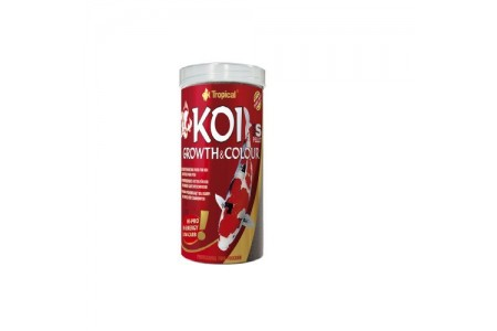 Tropical храна за КОИ - пелети за  цвят и растеж  S 1000 ml/320g