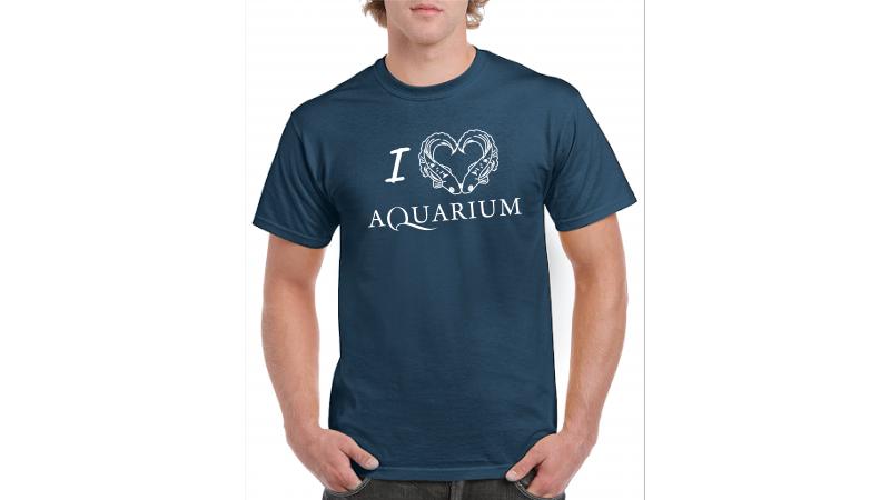 T-shirt I love Aquarium