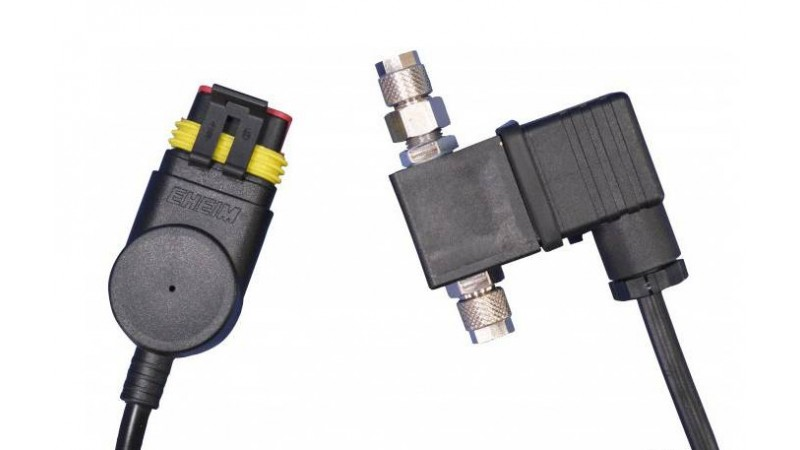 CO2 magnetic valve 24V connection to power LED+ EHEIM