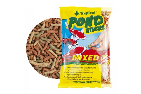 Храна под формата на плуващи пръчици Tropical Pond sticks mixed