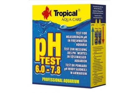Tecт за измерване на pH на сладка и морска вода Tropical pH Test  6,0-7,8