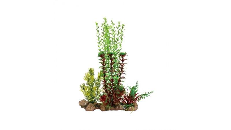 Изкуствена декорация - Високо растение с камъни