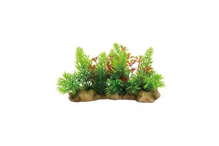 Изкуствена декорация - Ниско растение с камъни