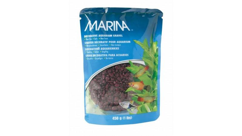 Aquarium gravel Marina - Burgandy