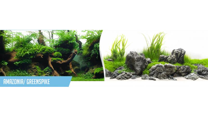 Фон за аквариум Amazonia / GreenSpike двулицев
