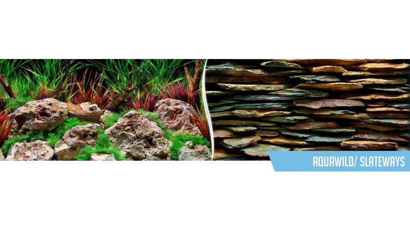 Фон за аквариум Aquawild / Slateways двулицев