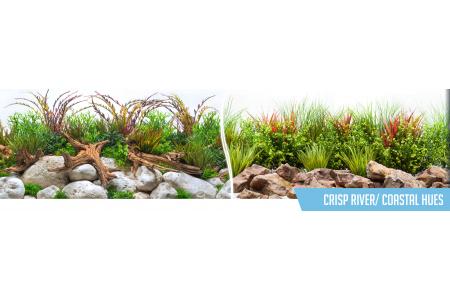 Фон за аквариум Crisp River / Coastal Hues двулицев