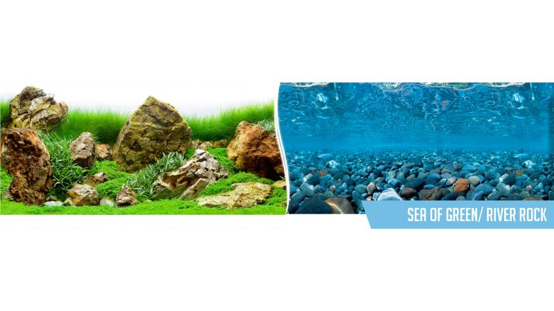 Фон за аквариум Sea of Green / River Rock двулицев