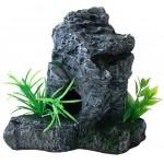 Rock with plants XL aquarium decoration
