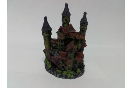 Three towers castle aquarium decoration