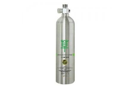 Алуминиева CO2 бутилка 2L с кран и предпазен клапан
