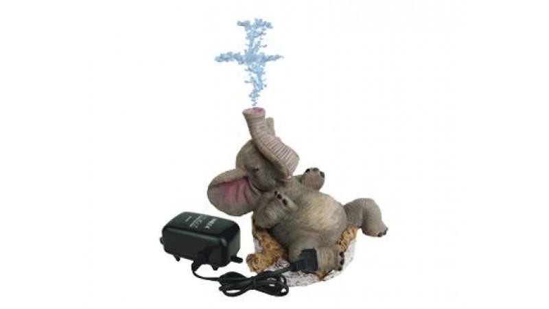 Interactive air elephant aquarium decoration