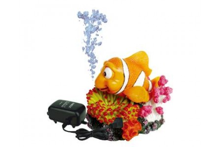 Interactive air Nemo aquarium decoration