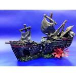 Изкуствена декорация - Пиратски кораб от 2 части