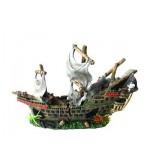Изкуствена декорация - Кораб пиратски от две части XL