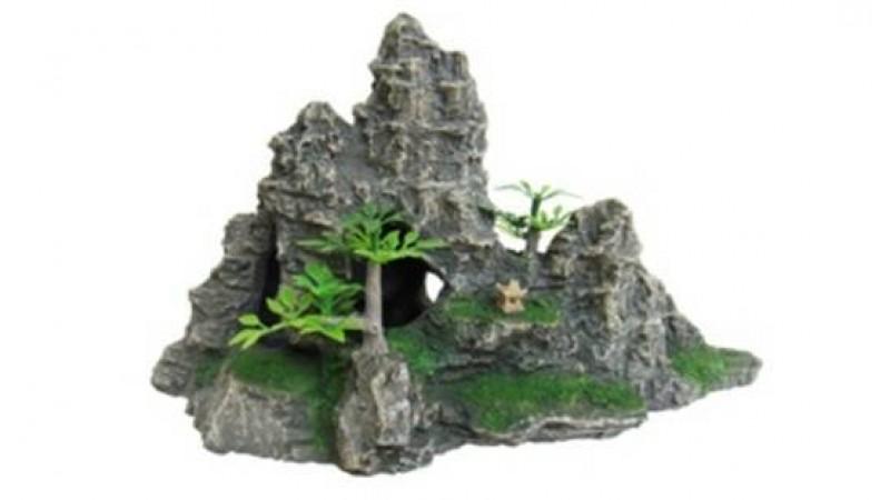 Изкуствена декорация - Скала с растения М