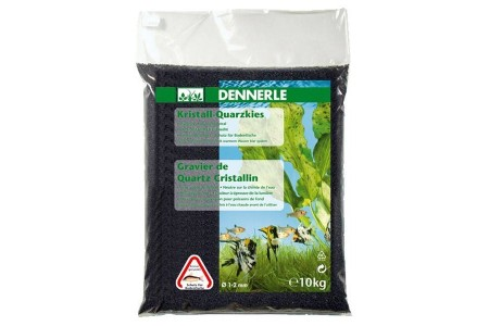 Грунд за дъно Dennerle gravel diamond black 1-2mm 10kg
