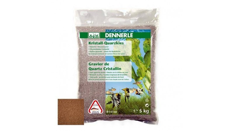 Грунд за дъно Dennerle gravel light brown 1-2mm 5kg