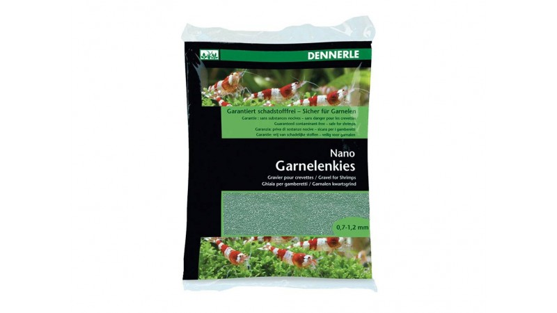 Грунд за дъно Dennerle Nano gravel, Java green 0.7-1.2мм 2кг
