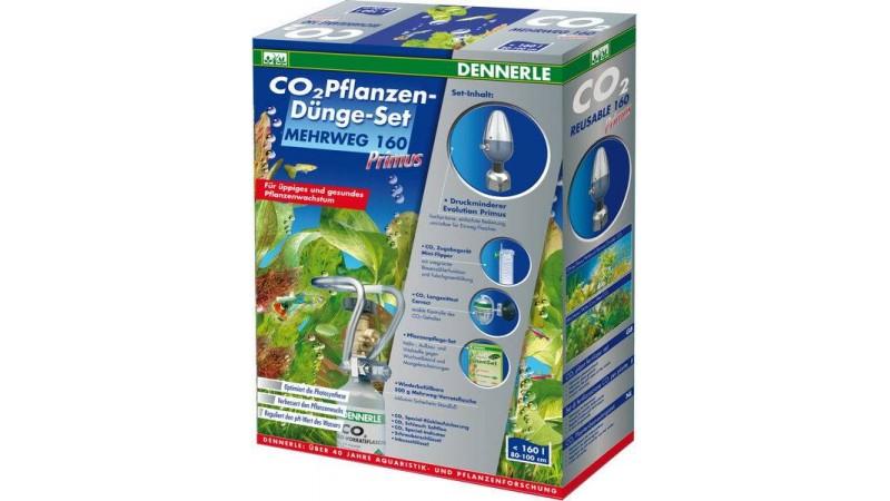 Пълен комплект за многократна употреба за снабдяване с CO2 за аквариуми до 160 литра Dennerle Co2 plant fertilizer set reusable 160 Primus