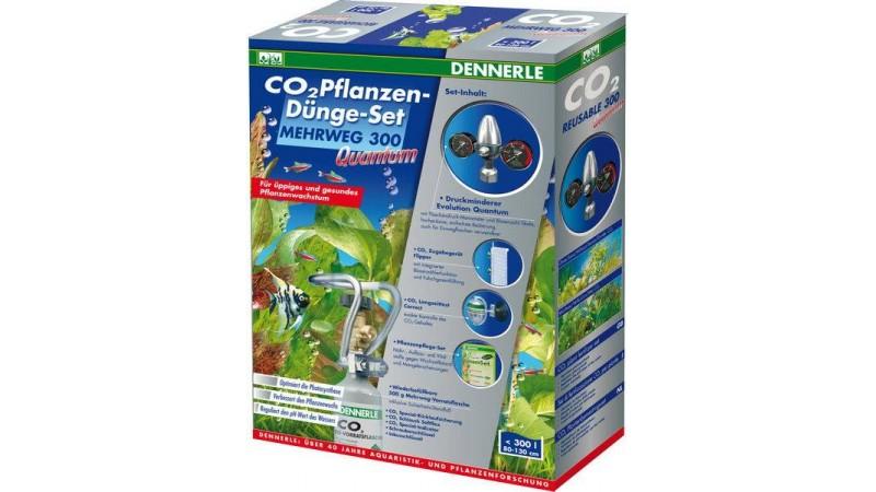 Пълен комплект за многократна употреба за снабдяване с CO2 за аквариуми до 300 литра Dennerle REUSABLE 300 QUANTUM
