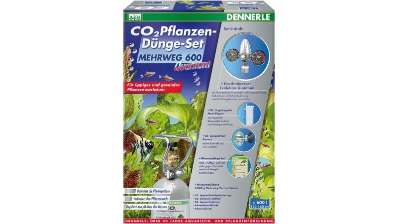 Пълен комплект за многократна употреба за снабдяване с CO2 за аквариуми до 600 литра Dennerle CO2 fertilizer set reus.600 QUANTUM