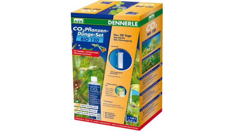 Пълен комплект за снабдяване с CO2 за аквариуми до 120 литра Dennerle BIO CO2 120 Complete Set