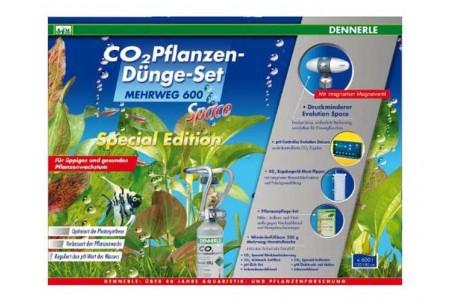 Пълен комплект за снабдяване с CO2 за аквариуми до 600 литра Dennerle CO2 fertilizer set 600 SPACE SpecialE.