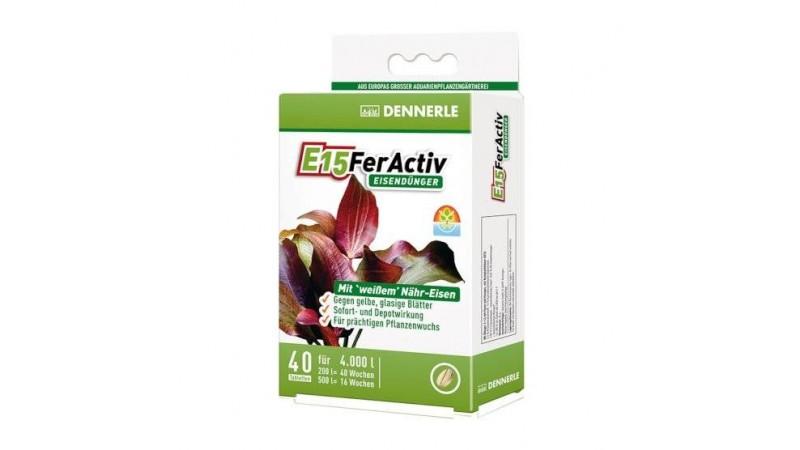 Тор на таблетки Dennerle E15 FerActiv 40 таблетки