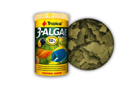 Храна под формата люспи, богата на водорасли Tropical 3-Algae Flakes