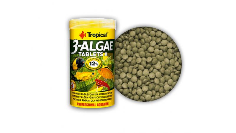 Храна под формата на таблетки, богати на водорасли Tropical 3-Algae Tablets A