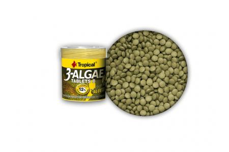 Храна под формата на таблетки, богати на водорасли Tropical 3-Algae Tablets B