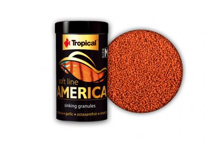 Храна за всеядни и месоядни рибки Tropical America Size M 250 мл. / 150 гр.