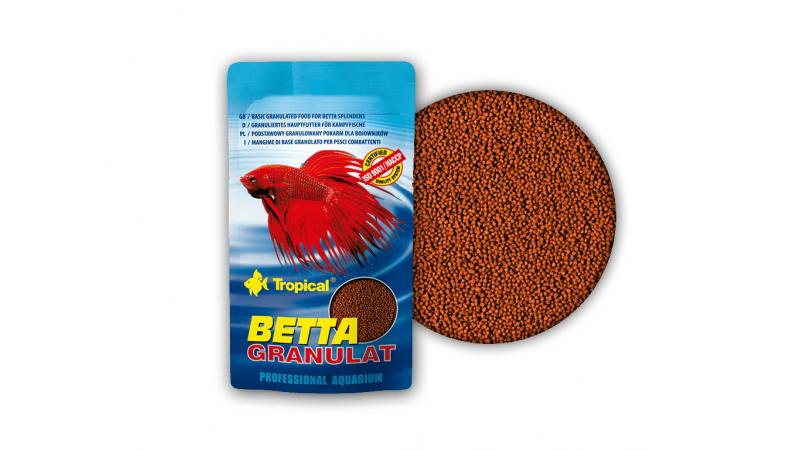 Основна гранулирана храна за бети Tropical Betta Granulat 10 гр.