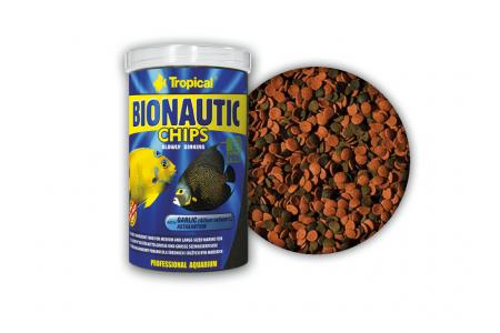 Храна за средни и големи по размер морски риби Tropical Bionautic Chips 250 мл. / 130 гр.