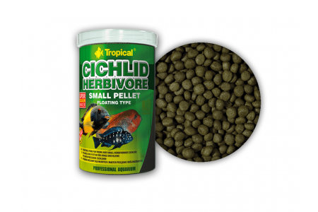 Храна за растителноядни цихлиди Tropical Cichlid Herbivore Small Pellet 250мл. / 90 гр.