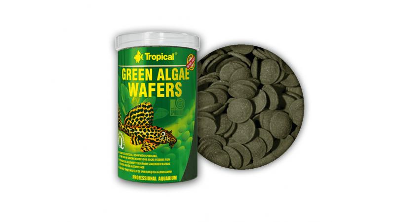 Растителна храна под формата на потъващи вафли Tropical Green Algae Wafers