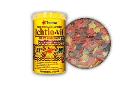 Многокомпонентна храна на люспи Tropical Ichtio-vit