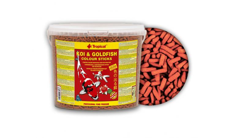 Храна за кои и златни рибки под формата на пръчици Tropical  Koi&Goldfish Colour Sticks