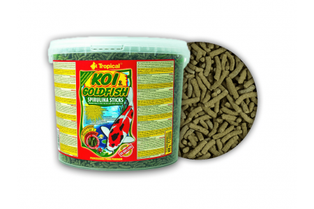Храна за кои и златни рибки под формата на пръчици Tropical  Koi&Goldfish Spirulina Sticks