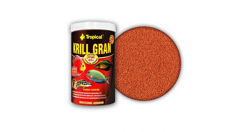 Многосъставна храна за сладководни и морски риби Tropical Krill gran