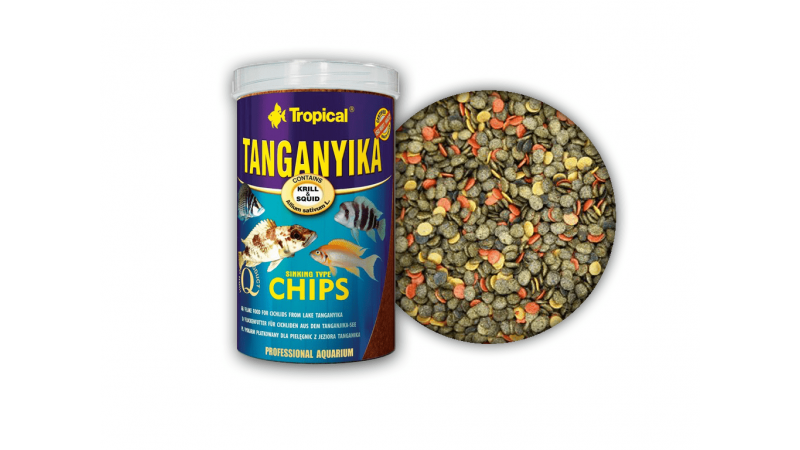 Многосъставна храна на чипс за цихлиди Tropical Malawi Chips 250 ml