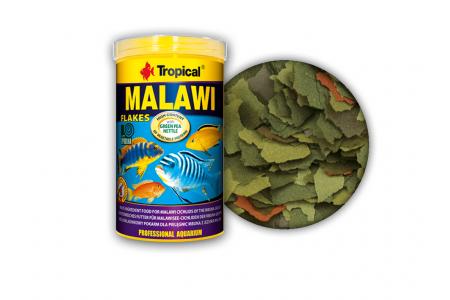 Многосъставна храна на люспи за цихлиди Tropical Malawi