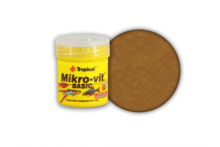 Основна многосъставна храна за новородени рибки Tropical Mikrovit  Basic  50мл. / 32гр.