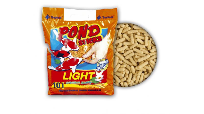 Храна под формата на плуващи пръчици Tropical Pond Sticks Light 10 л