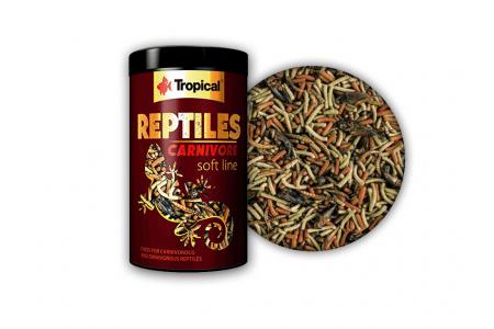 Храна за месоядни и всеядни влечуги Tropical Reptiles carnivore soft 250 мл./65гр.