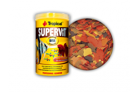 Храна на люспи за всеядни риби Tropical Supervit